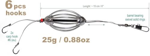 3pcs cask carp fishing feeder 1