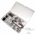 SET Carp Fishing Set Rig Tackle Box Safety Clip Lead Tail Rubber 2