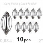10 carp cask fishing feeder 25g