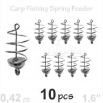 10 carp spring fishing feeder 12g