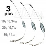 3 type fishing lead tackle