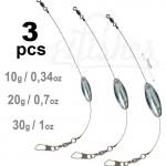 3 type fishing lead tackle